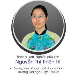 Thạc sĩ luật Nguyễn Thị Thiện Trí