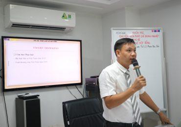 Nội dung nổi bật và trao đổi của học viên trong buổi giảng của Thạc sĩ, Luật sư Phạm Văn Đức